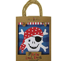8 sacs cadeaux pirate