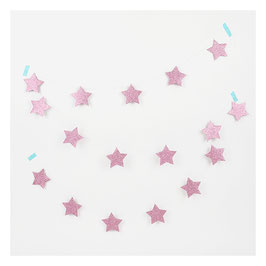 Guirlande étoiles glitter roses