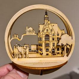 """Motivkugel ''Historisches Neheim / Rathaus & Kleinbahn"""" Edition 2021 - Limitiert auf 200 Stück"""