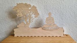 Buddha Schatten-Box Lasercut-Art