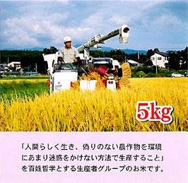 熱塩加納村産コシヒカリ 【玄米】5㎏ 無農薬米