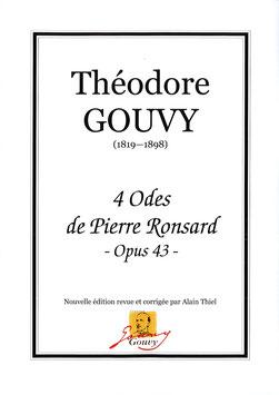 4 Odes de Pierre Ronsard, Op. 43, à Monsieur JB Laurens - Théodore Gouvy