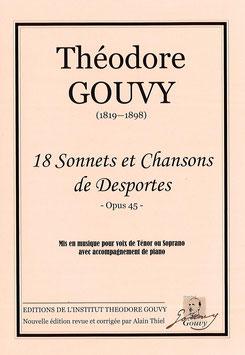 18 sonnets et chansons de Desportes - Théodore Gouvy
