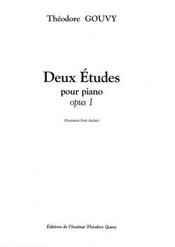 Deux études Opus 1 pour piano - Théodore Gouvy