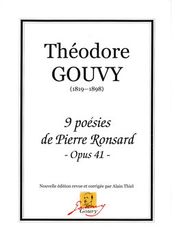 9 poésies de Pierre Ronsard Op. 41 - Théodore Gouvy