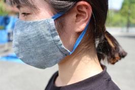 藍染め立体マスク(男女兼用)