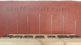 Socle en métal brut pour sculpture en bois, céramique, verre...épaisseur 10mm (1cm)