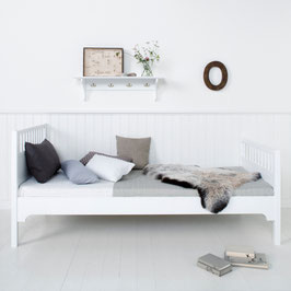 Oliver Furniture Seaside Einzelbett, weiß 90x 200 cm