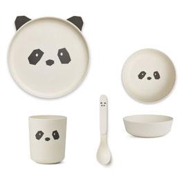 """Liewood Geschirrset aus Bambus """"Bamboo box set"""" Panda"""