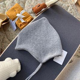 KIND DER STADT Strick-Mütze aus Öko-Wolle, grau