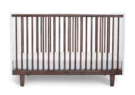 Oeuf Rhea Babybett 70 x 140 cm Walnuss/Weiss