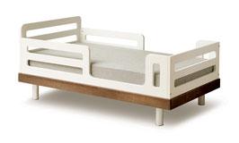 Oeuf Classic Kinderbett 70 x 140 cm Walnuss/ Weiss
