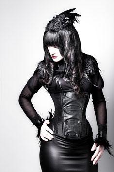 Victorian Shirt in schwarz transparent