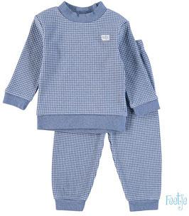"""Feetje wafel-pyjama """"305532 """" blue Melange"""