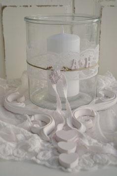 Glas/Vase/Windlicht/Tischdekoration / Hochzeit
