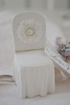 Stuhl Sitzordnung / Namenschild / Gastgeschenk / Neutrale Duftkeramik