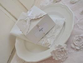 10 Stück Geschenk-Box / Schachtel / Kiste mit Dekoration weiss