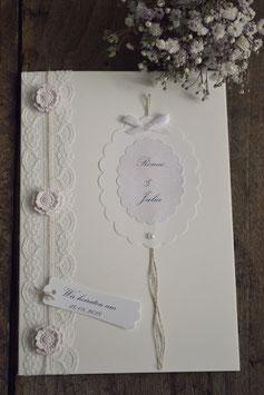 """Hochzeit Einladungskarte """"VINTAGE FLOWERS"""""""