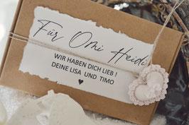 Geschenk-Set für Mama, Oma, Freundin / Geschenkkorb Herz personlisiert