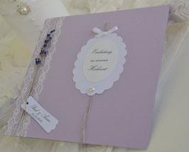 """Einladungskarte """" Lavender"""""""
