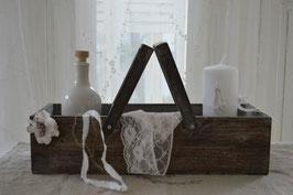 Holz Box / Korb mit Henkel / Aufbewahrung Kiste
