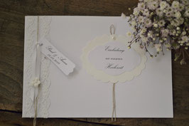 """Hochzeit Einladungskarte """"Natural White"""""""