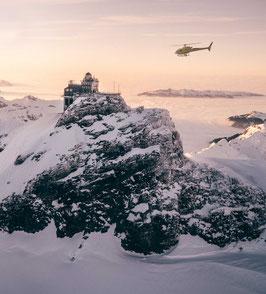 Flug zum/vom Jungfraujoch