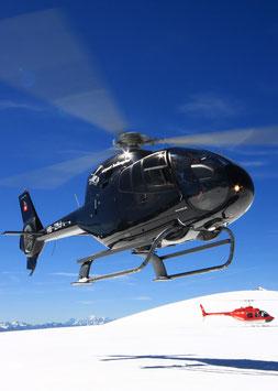 Alpenrundflug mit Gletscherlandung + Apéro