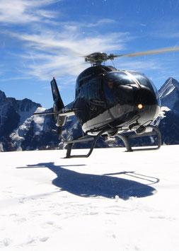 120 Min. Alpenrundflug mit Gletscherlandung und Apéro für 4 Personen