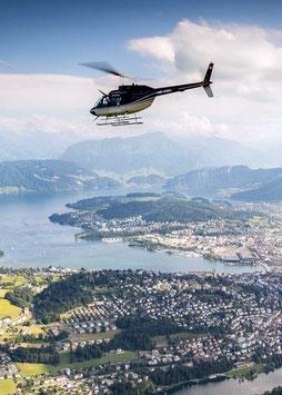 20 Min. Stadtrundflug Luzern oder Basel
