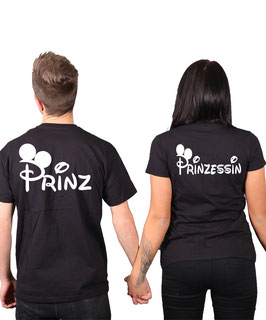 "2 x T-Shirt ""Prinz & Prinzessin"" oo"