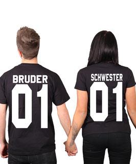 "2 x T-Shirt ""Bruder & Schwester"""