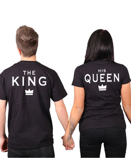 "2 x T-Shirts ""The King & His Queen"""