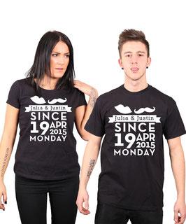 """2 x T-Shirt """"Since"""""""