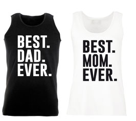 "2 x TANKTOP ""BEST MOM & BEST DAD"" DOPPELPACK"