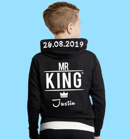 MR. KING KINDER HOODIE MIT WUNSCHNAME UND DATUM