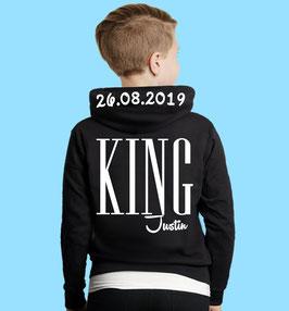 KING HIGH KINDER HOODIE MIT WUNSCHNAME UND DATUM