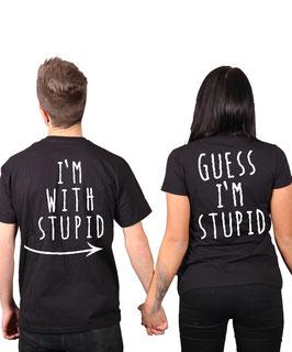 """2 x T-Shirt """"Stupid"""""""