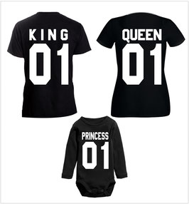 "3´ER FAMILIEN SET MIT ""KING 01 - QUEEN 01 - PRINCE(ESS) 01"" (T-KQ01)"