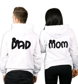 "2 x HOODIES ""MOM & DAD"" oo"