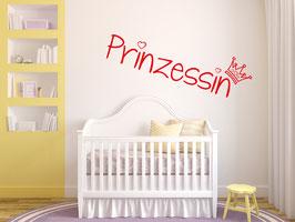 """Prinzessin"" Wandtattoo"