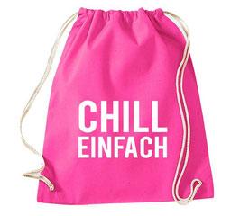 """TURNBEUTEL """"CHILL EINFACH"""""""