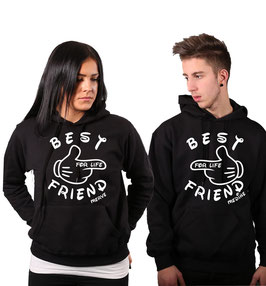 "2 x HOODIES ""BEST FRIENDS"" + WUNSCHNAMEN"