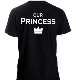 "Kinder T-Shirt mit ""our Prince(ss)"""