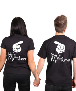 "2 x T-Shirt ""True Love"""