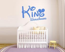 "WANDTATTOO ""KING oo"" + WUNSCHNAME"