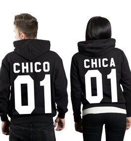 "2 x Hoodies ""Chico 01 & Chica 01"""