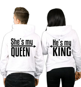 "2 x HOODIES ""MY KING & MY QUEEN"""
