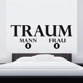 """WANDTATTOO """"TRAUM MANN & TRAUM FRAU"""""""