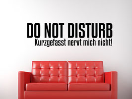 "Wandtattoo ""No Disturb"""